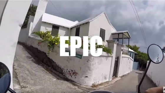 GoPro HERO4 Black St. George's Bus Stop to Fort St. Catherine on Moped