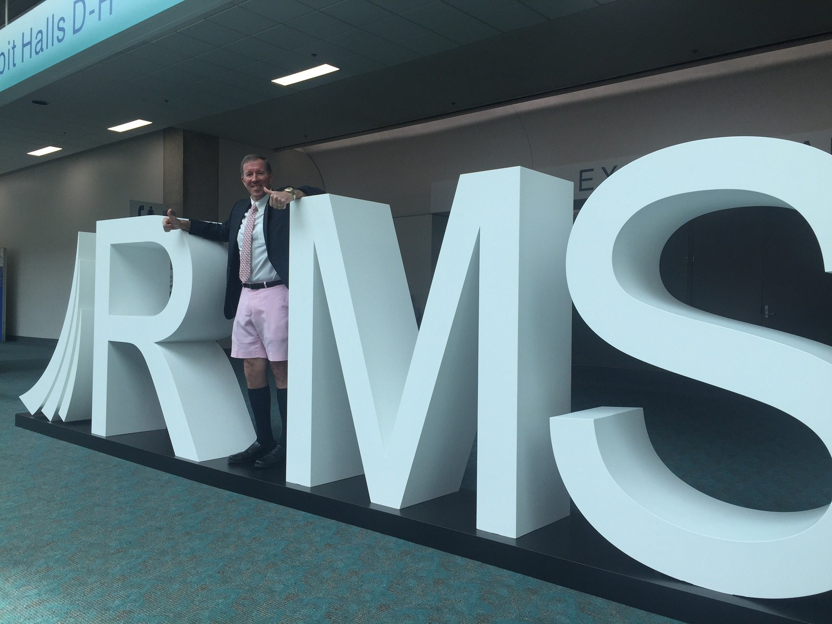 Premier Michael Dunkley at last year's RIMS conference in San Diego, CA
